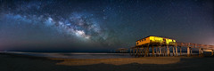 Cosmic Frisco [EXPLORED] (Travis Rhoads) Tags: longexposure nightphotography panorama stars northcarolina coastal astrophotography fishingpier theouterbanks 2016 landscapephotography themilkyway friscopier trphotostudio nikcollectionbygoogle travisrhoadsphotography copyright2016 metaboneseftoeivt sonyilce7rm2a7rii sigma20mmf14dghsm