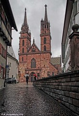Mnster Cathedral, Basel Switzerland (PhotosToArtByMike) Tags: architecture switzerland swiss gothic basel rhine romanic ch riverrhine redsandstone grossbasel baslermnster baselswitzerland baselminster cathedralmnster oldtownbasel