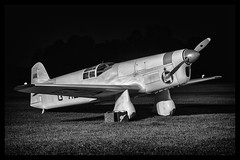 Percival E.2H Mew Gull - 2 (mod) (NickJ 1972) Tags: night shoot gull aviation nightshoot collection shuttleworth percival mew e2 2015 oldwarden gaexf