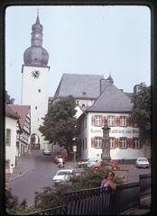 (Kaopai) Tags: church kodak urlaub kirche dia 1975 1970s ferien kerk sauerland glockenturm urlaubsfoto 1970er farbdia maximilianbrunnen hauszurkrim