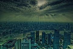 Shanghai sunset (jsvamm) Tags: china street city travel light sunset sky urban sun night clouds river republic shanghai district peoples pudong bund huangpu puxi 500px ifttt