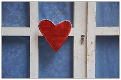 Red Heart ... (junepurkiss) Tags: red italy sicily redheart taormina doorhandle doordetail