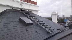 Working at Height Roof Walk (F.H.Brundle) Tags: safety equipment edge handrail protection height lanyard working roof anchor handrailingsolutions