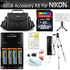 32GB Accessory Kit For Nikon Coolpix B500, L330, L340, L810 L820 L830 L840 Digital Camera Includes 32GB High Speed SD Memory Card + 4AA Rechargeable NIMH Batteries + Rapid Charger + Case + Tripod ++ (saidkam29) Tags: camera digital speed high nikon tripod case card memory coolpix rapid batteries charger includes accessory rechargeable nimh b500 32gb l830 l810 l820 l840 l330 l340
