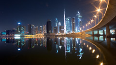 Dubai downtown (joona.haltia) Tags: longexposure dubai dubaifountain burjkhalifa