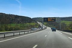 Autoroute A71 - Vicq (France) (Meteorry) Tags: road france green highway europe traffic motorway roadtrip vert route autopista freeway april autoroute allier auvergne autostrada vicq 2016 a71 meteorry gannat e62 lasioule larverne auvergnerhônealpes