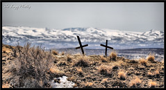 March 2011 - In memory of two dear friends (lazy_photog) Tags: mountains art photography big memorial crosses basin ridge lazy pam badlands wyoming horn rattlesnake elliott photog worland absaroka