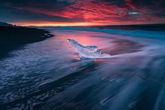 night crystal (Wai Cheong Chan) Tags: ice beach landscape iceland seascpe