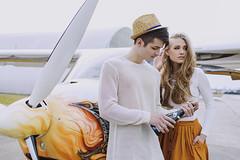 Lets run away (Agata Gri) Tags: boy woman man love girl photography romance hippie boho airplaine shampagne