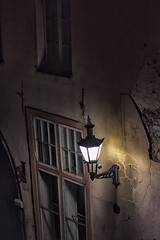 Old Lantern On The Wall (k009034) Tags: old city travel windows light black wall night town europe tallinn estonia plaster crack lantern destinations traveldestinations 500px teamcanon