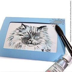 Diese Katzenschnheit wohnt im Shop... (wandklex Ingrid Heuser freischaffende Knstlerin) Tags: art cat watercolor artist kunst workinprogress watercolour katze watercolors watercolours behindthescenes comission catcontent tomcat atelier aquarell malerei custompaint handgemalt caturday etsyshop etsyseller etsyfinds kunstatelier etsygifts wandklex catsofinstagram uploaded:by=flickstagram instagram:venuename=bahnhofratzeburg instagram:venue=51075171 etsyresolution2016 etsyresolutionde hahnem instagram:photo=12298575599169072161487357881
