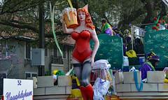 """Naughtyham"" (BKHagar *Kim*) Tags: street carnival beads neworleans parade celebration napoleon nola mardigras float throws prytania kreweoftucks bkhagar naughtyham mardigrassaturday"