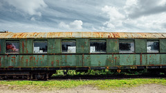 Vintage Train (SergMo Cutler) Tags: old museum train vintage graffiti grunge rusty zug bahnhof dirt schnberg railstation ontherails bahnmuseum freeones trainlover alterzug sergmo yournameonthetrain