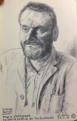 Julian Barratt, addasiad o ffotograff David Levene (Guardian) (FfotoMarc) Tags: portrait art sketch evans artwork drawing marc portread celf tynnullun arlunio darlunio gwaithcelf celfwaith copyrighthawlfraintmarcevans2016