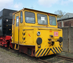 Akkuschleppfahrzeug (The Rubberbandman) Tags: railroad cars car yellow electric museum train germany private tank outdoor dr battery tracks engine eisenbahn railway zug loco db historic steam east company route german repair ddr depot restoration locomotive passenger standard bochum bahn gauge gdr fahrzeug asf deutsche lokomotive switcher shunter reichsbahn dahlhausen