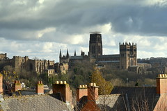 Rooftop view of Durham (Tony Worrall) Tags: county city uk houses homes roof chimney england history architecture buildings site scenery stream tour open durham view place rooftops country north over scenic visit scene location tourist calm historic east area tall sight northern distance update northeast built attraction relic olden durhamcatherdral welovethenorth