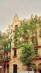 Barcelona balconies (wirralwater) Tags: barcelona trees building home spain balcony spanish balconies