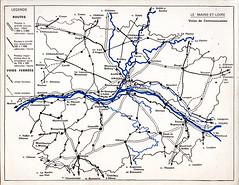 carte routes (tartarsky) Tags: maine et loire 1965 cartes