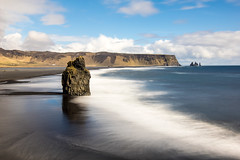 Escape from the planet of the apes (OR_U) Tags: ocean longexposure sea sky black beach weather clouds iceland spring sand sunny vik le oru basalt blackbeach seastack 2016 reynisfjara