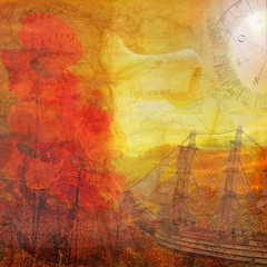 Texture Like Sun (virtually_supine popping in and out) Tags: face collage photomanipulation bright map creative vividcolour textures montage lensflare layers dreamlike compass impressionistic sailingship digitalartwork redpoppies hypomusicfestival photoshopelements913 goldenbrown~thestranglers