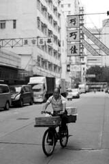 """Take out"" (Job Homeless) Tags: blackandwhite hongkong streetphotography jordan f2 58mm helios44m monochorme streetsnap canon6d"