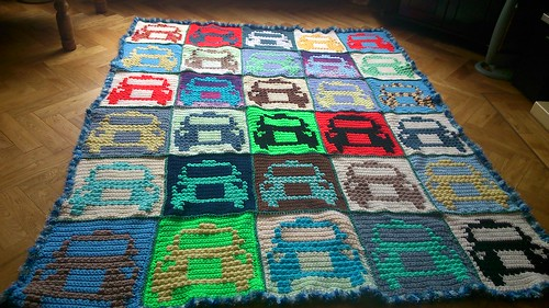 Scrap cars blanket for Fionntan