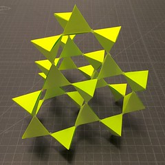 Tectosilicate (mike.tanis) Tags: art architecture paper design origami crystal structure diamond silicon tetrahedron papercraft cubic tectosilicate