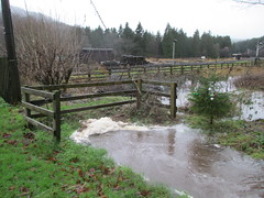Stream floods north of station 26Dec15