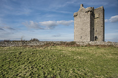 Gleninagh Castle, Munster, County Clare, Ireland (Willie Graham) Tags: ireland tower castle stone masonry ruin medieval ie munster towerhouse countyclare