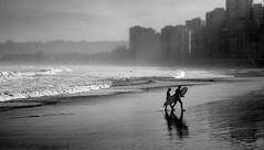 Gijn I Spain (Javier Zapatero) Tags: street urban white black blancoynegro beach monochrome canon photography mar photo spain agua surf gijn streetphotography asturias morningsurf xixon airelibre zapaphoto