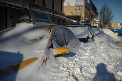Covered (dtanist) Tags: new york city nyc newyorkcity snow newyork cars beach car brooklyn canon 50mm bath taxi sony snowstorm vehicles covered heavy a7 fd