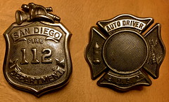 Badges (tmvissers) Tags: 1920s hat john fire uniform sandiego harry badge 112 department sdfd vissers autodriver bigjack