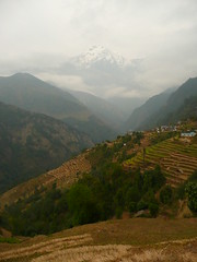 Mountain Almighty (Brice Retailleau / Quintessence de Voisinage) Tags: travel nepal sky panorama mountain nature clouds rural montagne trekking landscape countryside scenery asia village view rice cloudy outdoor earth scenic peak vista himalaya paysage annapurna cloudscape overview terrasses