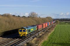 66532 Barrow upon Trent 4O95 1212 Leeds - Southampton 03-02-16 (Wilbert B) Tags: trent barrow upon 66532 4o95