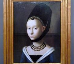 Petrus Christus, Portrait of a Young Woman, c. 1470 (profzucker) Tags: portrait berlin renaissance christus gemldegalerie petruschristus northernrenaissance christusberlin