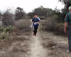 038 Joe Warning Runners Of The Missing E-punch Unit (saschmitz_earthlink_net) Tags: california trail orienteering runner irwindale 2016 losangelescounty santafedam laoc santafedamrecreationarea losangelesorienteeringclub joevliestra