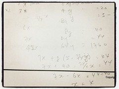 simultaneous equations... Unbelievable seeing problem... (lclek) Tags: children math equation simultaneous maths simultaneously simultaneousequations uploaded:by=flickstagram instagram:photo=11296653010924138131333243