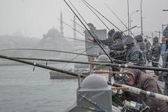 DSC_1664 (zeynepcos) Tags: bridge winter snow man cold fishing fisherman outdoor istanbul mosque galata karakoy eminonu