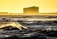 windy evening (-gregg-) Tags: ocean city sky evening sand waves wind atlantic shore
