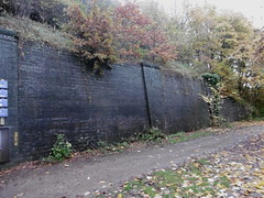 Sheffield - Staveley old railway  -  Killamarsh station (dave_attrill) Tags: road old nottingham station wall town sheffield great central railway victoria trail valley disused trans footpath pennine woodhouse chesterfield bridleway retaining rotherham rother beighton arkwright trackbed renishaw gcr killamarsh staveley beeching brimington