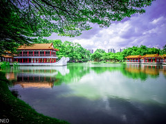 Heaven and Earth (Myat Thu Ya Khaing (Neo)) Tags: lake singapore chinesegarden chinesetemple heavenandearth likeheavenreflectiononwater