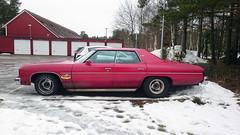 1976 Chevrolet Caprice Classic (crusaderstgeorge) Tags: cars sweden gvle sverige wintersday classiccars americancars redcars americanclassiccars 1976chevroletclassic