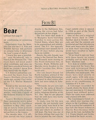 Article courtesy of Greensboro News & Record (ucumari photography) Tags: bear november 2002 animal mammal zoo oso nc north royal polarbear carolina eisbr ursusmaritimus  oursblanc osopolar  ourspolaire orsopolare jkarhu  ucumariphotography sbjrn niedwiedpolarny greensboronewsrecord