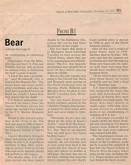 Article courtesy of Greensboro News & Record (ucumari photography) Tags: bear november 2002 animal mammal zoo oso nc north royal polarbear carolina eisbär ursusmaritimus シロクマ oursblanc osopolar 北极熊 ourspolaire orsopolare jääkarhu 북극곰 ucumariphotography ísbjörn niedźwiedźpolarny greensboronewsrecord полярныймедведь الدبالقطبي