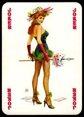 Pin Up Playing Card - Joker (cigcardpix) Tags: beauty pinups playingcard