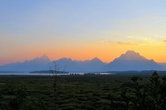 Teton Sunset (Patricia Henschen) Tags: sunset mountains clouds lodge wyoming grandtetons grandtetonnationalpark jacksonlake