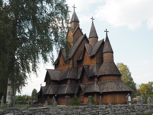 The largest stave church in Norway