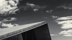 Modern building (.Stevve) Tags: sky white black building portugal modern clouds island himmel wolken insel pt weiss gebude schwarz azores aores azoren santacruzdasflores