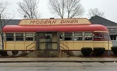 Modern Diner, Pawtucket, RI. (63vwdriver) Tags: b car sign vintage island j neon diner dining sterling rhode porcelain streamliner pawtucket judkins