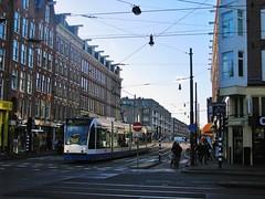 Kruispunt 2 - zuid - FOTO 3 (streamer020nl) Tags: holland netherlands amsterdam crossing nederland 7 tram junction intersection nl 2123 strassenbahn kinkerstraat niederlande bilderdijkstraat gvb kruispunt 2016 flevopark kruising 280116